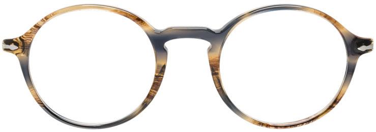PRESCRIPTION-GLASSES-MODEL-PERSOL-3141-V-GREY-TORTOISE-FRONT