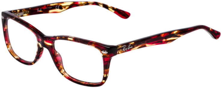 PRESCRIPTION-GLASSES-MODEL-RAY-BAN-RB5228-BURGUNDY-TORTOISE-45