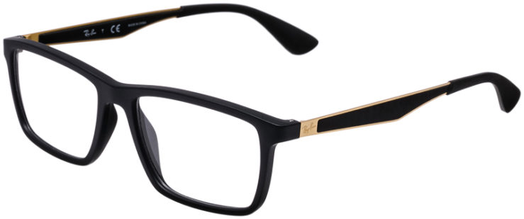 PRESCRIPTION-GLASSES-MODEL-RAY-BAN-RB7056-MATTE-BLACK-GOLD-45
