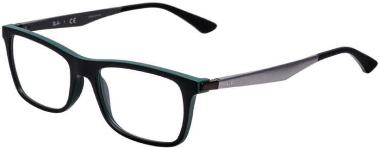 PRESCRIPTION-GLASSES-MODEL-RAY-BAN-RB7062-MATTE-BLACK-GREEN-45