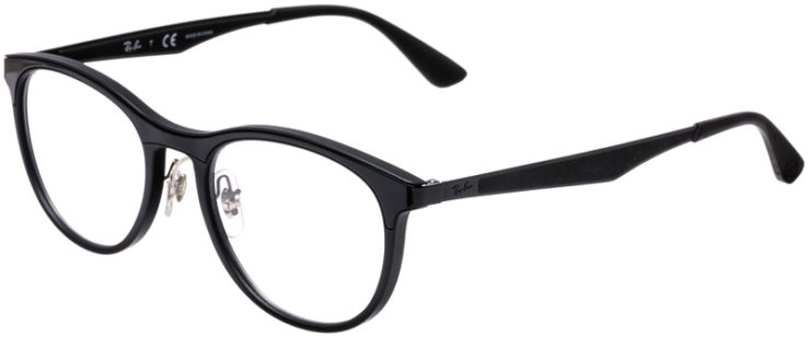 PRESCRIPTION-GLASSES-MODEL-RAY-BAN-RB7116-BLACK-MATTE-BLACK-45