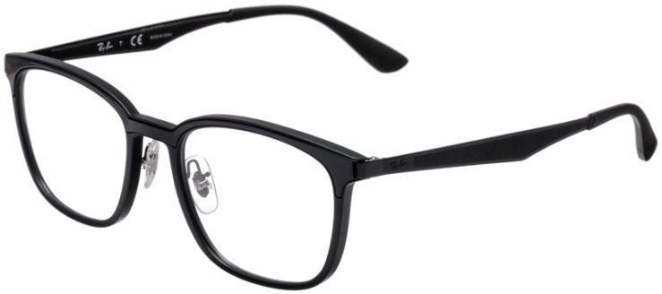 PRESCRIPTION-GLASSES-MODEL-RAY-BAN-RB7117–BLACK-MATTE-BLACK-45