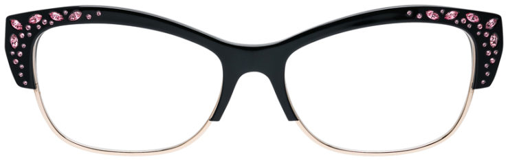 PRESCRIPOTION-GLASSES-MODEL-CAVIAR-M3015-BLACK-GOLD-FRONT