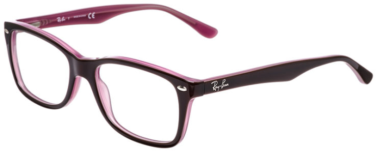 PRESCRIPOTION-GLASSES-MODEL-RAY-BAN-RB5228-BROWN-PURPLE-45