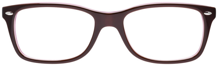 PRESCRIPOTION-GLASSES-MODEL-RAY-BAN-RB5228-BROWN-PURPLE-FRONT
