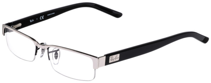 PRESCRIPOTION-GLASSES-MODEL-RAY-BAN-RB6182-SILVER-BLACK-45