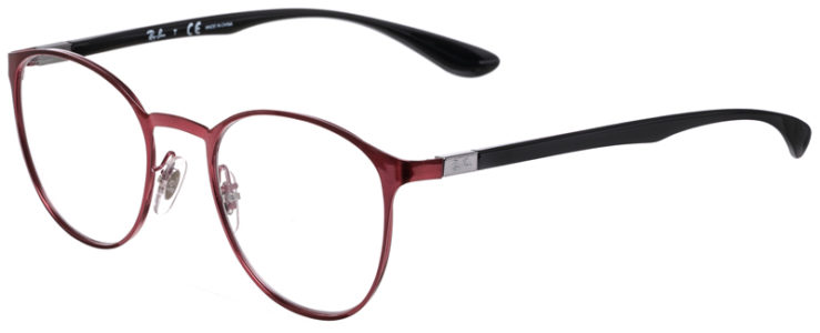 PRESCRIPOTION-GLASSES-MODEL-RAY-BAN-RB6355-MATTE-RED-BLACK-45