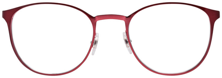 PRESCRIPOTION-GLASSES-MODEL-RAY-BAN-RB6355-MATTE-RED-BLACK-FRONT