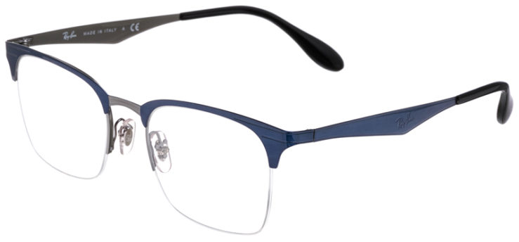 PRESCRIPOTION-GLASSES-MODEL-RAY-BAN-RB6360-BLUE-SILVER-45