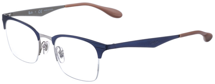 PRESCRIPOTION-GLASSES-MODEL-RAY-BAN-RB6360-NAVY-SILVER-45