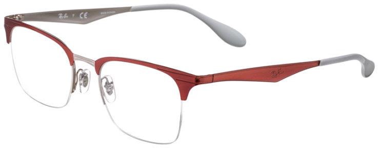 PRESCRIPOTION-GLASSES-MODEL-RAY-BAN-RB6360-RED-SILVER-45