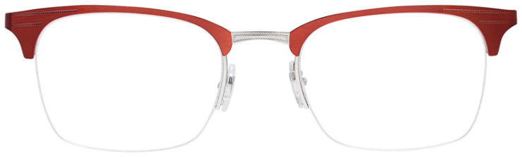 PRESCRIPOTION-GLASSES-MODEL-RAY-BAN-RB6360-RED-SILVER-FRONT