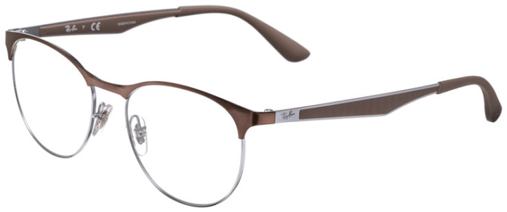 PRESCRIPOTION-GLASSES-MODEL-RAY-BAN-RB6365-BROWN-SILVER-45