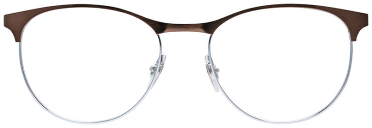 PRESCRIPOTION-GLASSES-MODEL-RAY-BAN-RB6365-BROWN-SILVER-FRONT