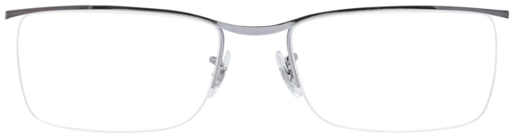 PRESCRIPOTION-GLASSES-MODEL-RAY-BAN-RB6370-SILVER-FRONT