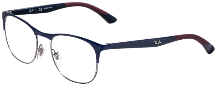 PRESCRIPOTION-GLASSES-MODEL-RAY-BAN-RB6412-BLUE-SILVER-BURGUNDY-45
