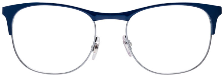 PRESCRIPOTION-GLASSES-MODEL-RAY-BAN-RB6412-BLUE-SILVER-BURGUNDY-FRONT