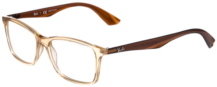 PRESCRIPOTION-GLASSES-MODEL-RAY-BAN-RB7047-YELLOW-CRYSTAL-BROWN-45