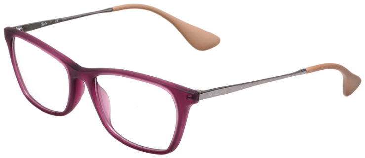 PRESCRIPOTION-GLASSES-MODEL-RAY-BAN-RB7053-MATTE-PURPLE-SILVER-BEIGE-45