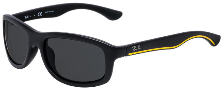 PRESCRIPOTION-GLASSES-MODEL-RAY-BAN-RJ9058S-MATTE-BLACK-YELLOW-45
