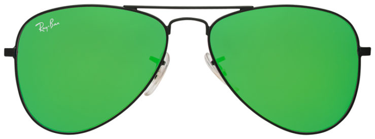 PRESCRIPOTION-GLASSES-MODEL-RAY-BAN-RJ9506S-BLACK-FLASH-GREEN-FRONT