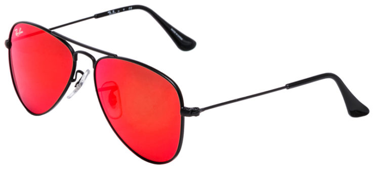 PRESCRIPOTION-GLASSES-MODEL-RAY-BAN-RJ9506S-BLACK-FLASH-RED-45