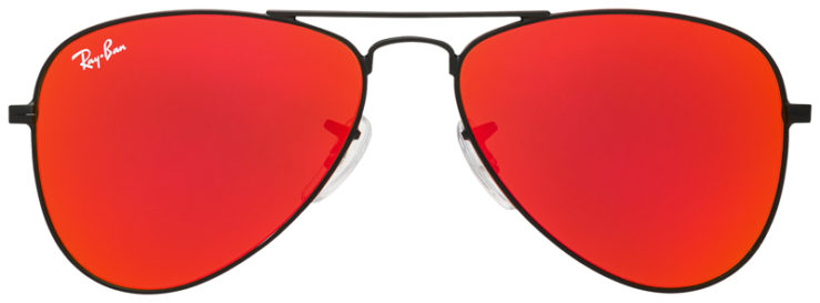 PRESCRIPOTION-GLASSES-MODEL-RAY-BAN-RJ9506S-BLACK-FLASH-RED-FRONT