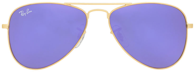 PRESCRIPOTION-GLASSES-MODEL-RAY-BAN-RJ9506S-GOLD-FLASH-PURPLE-FRONT