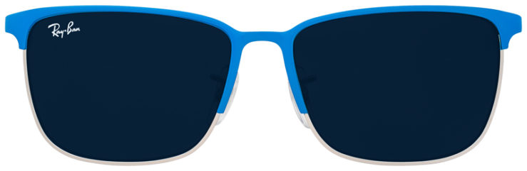 PRESCRIPOTION-GLASSES-MODEL-RAY-BAN-RJ9535S-LIGHT-BLUE-SILVER-FRONT