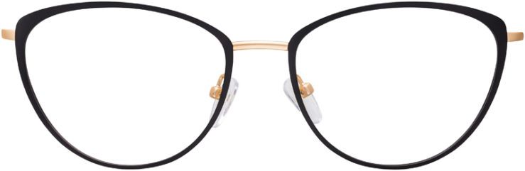 PRESCRIPTION-GLASSES-MODEL-DC-170-BLACK-GOLD-FRONT