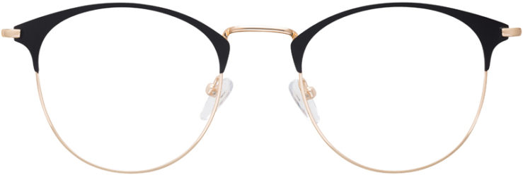 PRESCRIPTION-GLASSES-MODEL-DC-172-BLACK-GOLD-FRONT