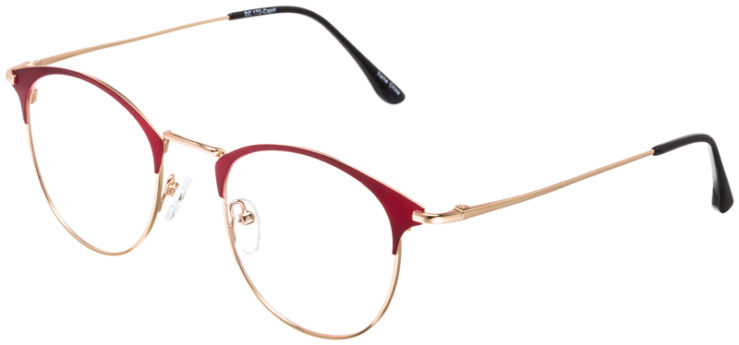PRESCRIPTION-GLASSES-MODEL-DC-172-RED-GOLD-45