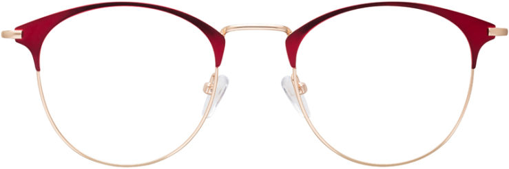 PRESCRIPTION-GLASSES-MODEL-DC-172-RED-GOLD-FRONT