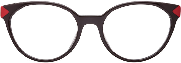 PRESCRIPTION-GLASSES-MODEL-PRADA-VPR01T-F-BROWN-RED-FRONT