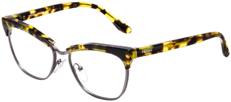 PRESCRIPTION-GLASSES-MODEL-PRADA-VPR14S-YELLOW-TORTOISE-GUNMETAL-45
