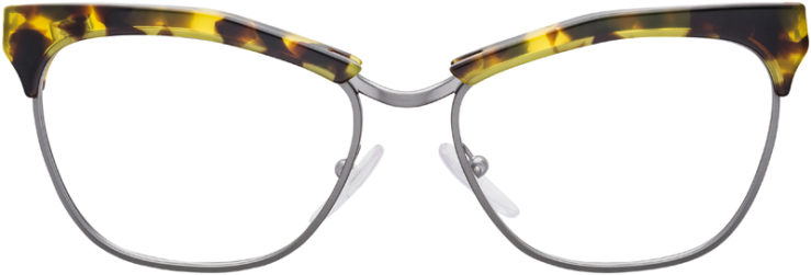 PRESCRIPTION-GLASSES-MODEL-PRADA-VPR14S-YELLOW-TORTOISE-GUNMETAL-FRONT