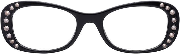 PRESCRIPTION-GLASSES-MODEL-PRADA-VPR21R-BLACK-FRONT