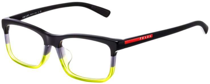 PRESCRIPTION-GLASSES-MODEL-PRADA-VPS05F-F-MATTE-BLACK-GREY-GREEN-45