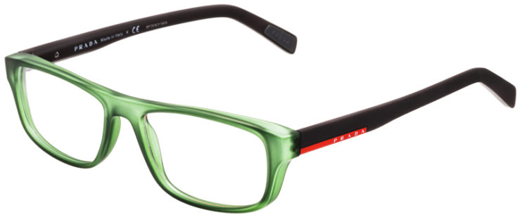 PRESCRIPTION-GLASSES-MODEL-PRADA-VPS06G-MATTE-GREEN-BROWN-45