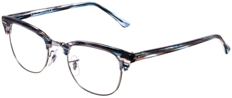 PRESCRIPTION-GLASSES-MODEL-RAY-BAN-CLUBMASTER-RB5154-BLUE-GREY-TORTOISE-SILVER-45