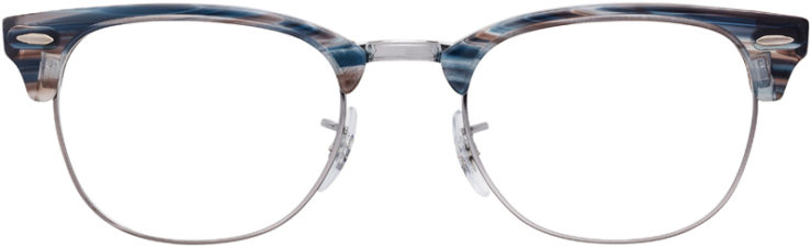 PRESCRIPTION-GLASSES-MODEL-RAY-BAN-CLUBMASTER-RB5154-BLUE-GREY-TORTOISE-SILVER-FRONT