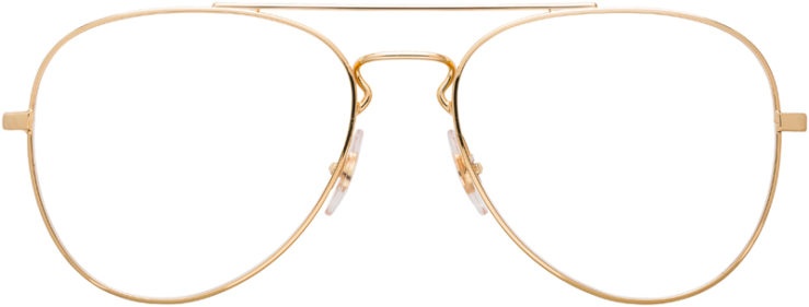 PRESCRIPTION-GLASSES-MODEL-RAY-BAN-RB6413-GOLD-FRONT