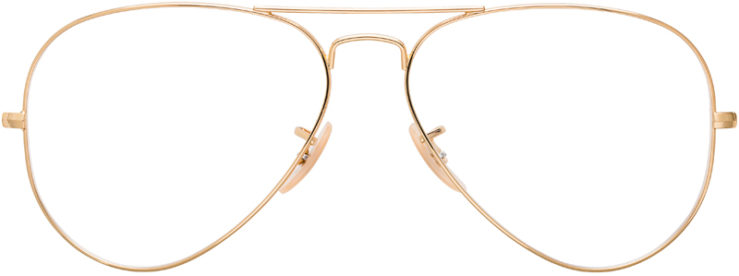 PRESCRIPTION-GLASSES-MODEL-RAY-BAN-RB6489-GOLD-FRONT