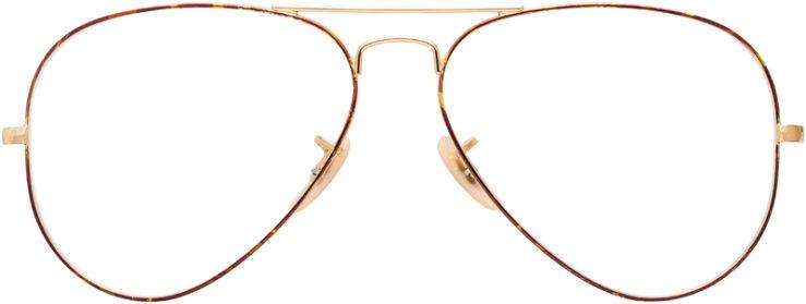 PRESCRIPTION-GLASSES-MODEL-RAY-BAN-RB6489-TORTOISE-GOLD-FRONT