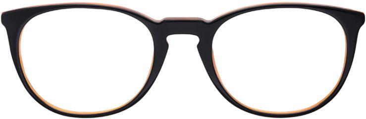 PRESCRIPTION-GLASSES-MODEL-VERSACE-3227-BLACK-BROWN-GOLD-FRONT