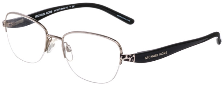 PRESCRIPTION-GLASSES-MODEL-MICHAEL-KORS-MK3007-SADIE-VI-SILVER-45
