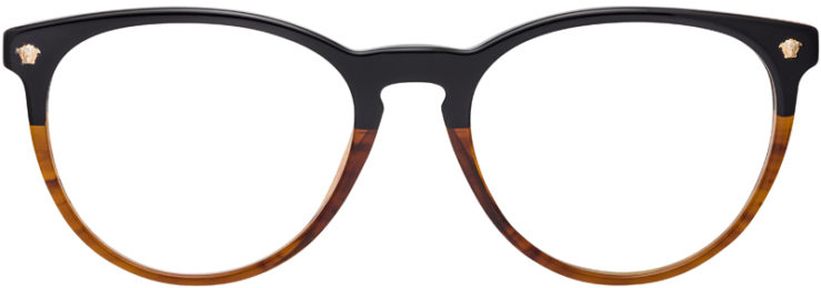 PRESCRIPTION-GLASSES-MODEL-VERSACE-3257-BLACK-BROWN-FRONT