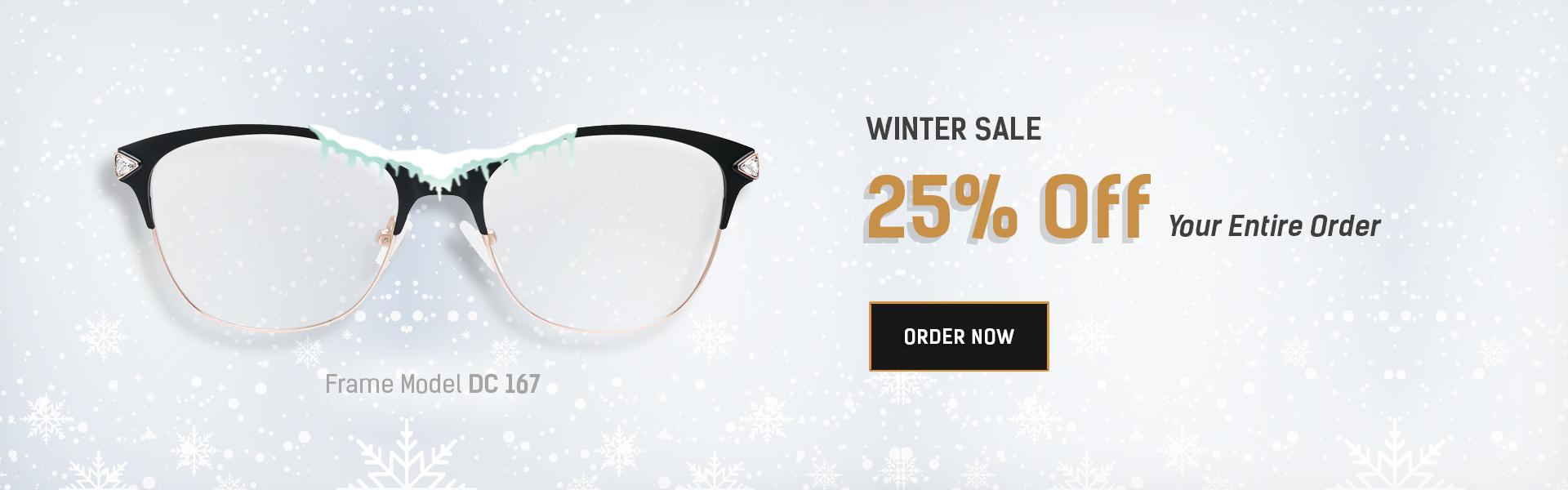 25% off on prescription glasses