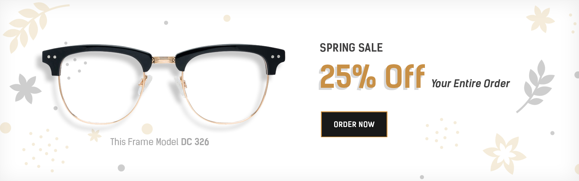 25% off on prescription glasses