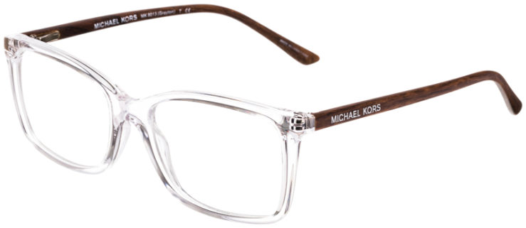 PRESCRIPTION-GLASSES-MODELMICHAEL-KORS-MK8013-(GRAYTON)-CLEAR-BROWNWOOD-45